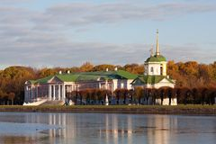 Palace At Museum-estate Kuskovo Stock Photo