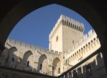Palace - Avignon - Francia de papas Fotografía de archivo libre de regalías
