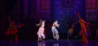"""Palace ball- ballet """"One Thousand and One Nights"""" Royalty Free Stock Photos"""