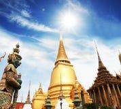 Palace in Bangkok. Gold palace in the Bangkok royalty free stock photo