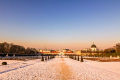 Palace Belvedere in Vienna Stock Photo