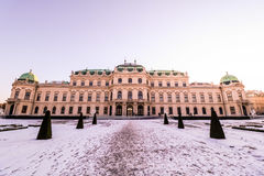 Palace Belvedere in Vienna Stock Images