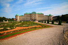 Palace Belvedere Vienna Royalty Free Stock Photos