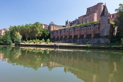 Palace Berbie in Albi, France Stock Images