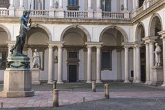 Palace  of Brera Royalty Free Stock Photography