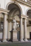Palace of Brera. Scultpure at the Palace of Brera in Milan Italy royalty free stock photo