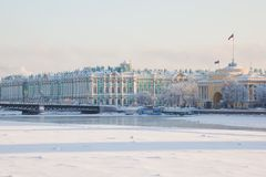 Palace bridge. Neva River. Saint-Petersburg. Russia stock photography