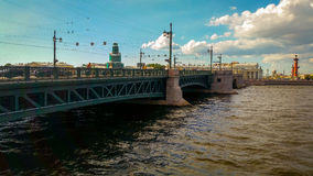 Palace Bridge. Palace Embankment , St. Petersburg Stock Images