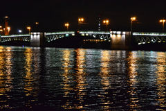 Palace bridge at night Stock Photos