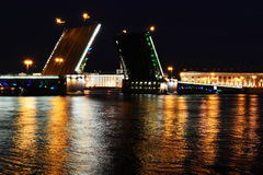Palace Bridge at night royalty free stock image