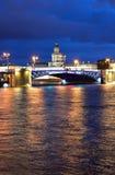 Palace Bridge at night. Stock Photography