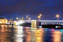 Palace Bridge at night. Royalty Free Stock Image