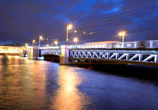 Palace Bridge at night. Stock Image