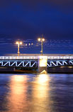 Palace Bridge at night. Royalty Free Stock Photos