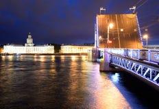 Palace Bridge at night. Royalty Free Stock Photo