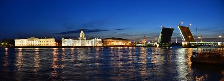 Palace Bridge and the River Neva Royalty Free Stock Images