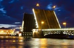 Palace bridge in Saint Petersburg Stock Photos