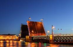 Palace bridge in Saint Petersburg Stock Image