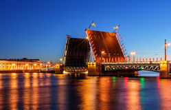 Palace bridge in Saint Petersburg Royalty Free Stock Photography