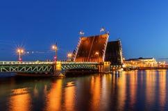 Palace bridge in Saint Petersburg Royalty Free Stock Image