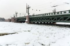 Palace bridge Saint Petersburg landmark Royalty Free Stock Photos