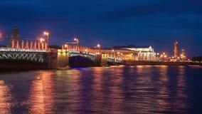 Palace bridge in Saint Petersburg stock footage