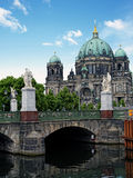Palace Bridge (Schlossbruecke) and Berlin Cathedral Stock Photos