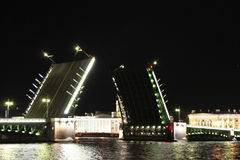 The palace bridge in St.-Petersburg Stock Image