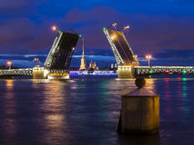 Palace Bridge in St. Petersburg, Russia Stock Photo