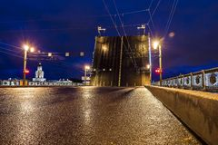 Palace Bridge in St. Petersburg, Russia Stock Images