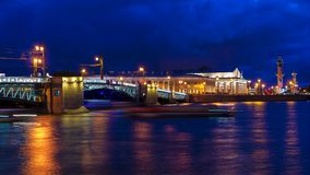 Palace Bridge in St. Petersburg, Russia Royalty Free Stock Photos