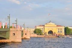 Palace Bridge, St.Petersburg. Stock Photo