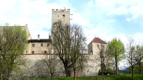 Palace Bruneck, South Tyrol, Italy. Palace Bruneck is a former castle on a hill in Bruneck in Trentino-Alto Adige in Italy stock video