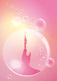 Palace in bubble stock illustration