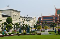 PALACE BUILDING IN曼谷泰国国王 库存图片