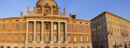 Palace buildings panorama stock photography