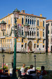 Palace on  Canal Grande in Venice, Italy Royalty Free Stock Photos