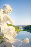 The palace of Caserta, a royal palace with an immense park located in Caserta. The royal palace and park of Caserta, heritage of UNESCO, Caserta - Italy near stock images