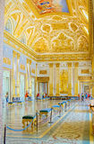 The palace of Caserta, a royal palace with an immense park located in Caserta. Royalty Free Stock Photography