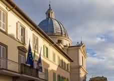 Palace in Castel Gandolfo, Pope residence, Italy Royalty Free Stock Photos