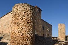 Palace Castle Bellcaire d`Emporda, Girona province, Catalonia, S. Pain Stock Image