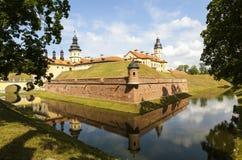 The palace and castle complex - Nesvizh Castle. Belarus. Stock Image