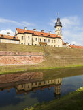The palace and castle complex - Nesvizh Castle. Belarus. Royalty Free Stock Photos