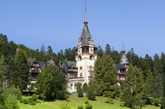 Palace castle peles in romania Royalty Free Stock Image