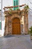 Palace of Cavaliere Semeraro. Martina Franca. Puglia. Italy. Royalty Free Stock Photos