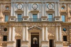 Palace Charles V at Alhambra, Granada. Palace Charles V at Alhambra, now museum, Granada, Andalusia, Spain stock photo