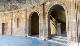 Palace of Charles V in the Alhambra Stock Photo