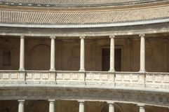 The palace of charles v in granada Royalty Free Stock Photos