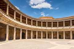 Palace of Charles V in Granada, Spain Royalty Free Stock Image