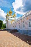 Palace Church of the Grand Palace in Peterhof Stock Photos